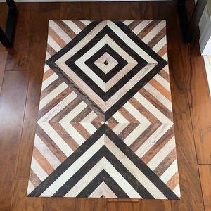 Vinyl faux wood design rustic mat